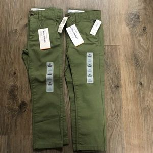 Old Navy Olive Green Ultimate Skinny Flex Pants